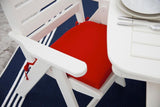 Polywood NCL32WH Nautical Lowback Chair White Finish - PolyFurnitureStore - 3