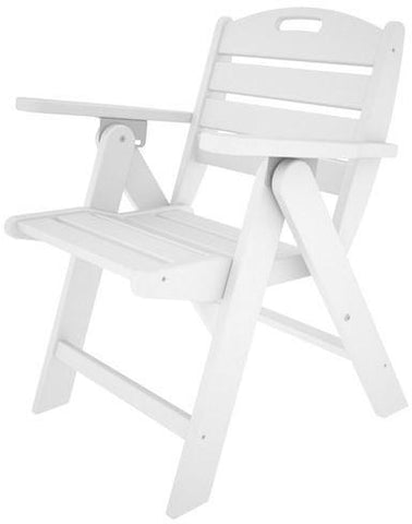 Polywood NCL32WH Nautical Lowback Chair White Finish - PolyFurnitureStore - 1