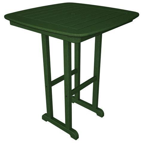 "Polywood NCRT31GR Nautical 31"" Counter Table Green Finish - PolyFurnitureStore"