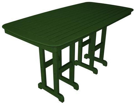 "Polywood NCRT3772GR Nautical 37"" x 72"" Counter Table Green Finish - PolyFurnitureStore"