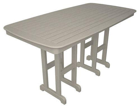 "Polywood NCRT3772SA Nautical 37"" x 72"" Counter Table Sand Finish - PolyFurnitureStore"