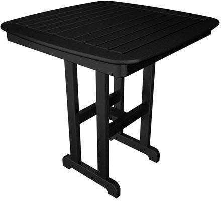 "Polywood NCRT37BL Nautical 37"" Counter Table Black Finish - PolyFurnitureStore - 1"