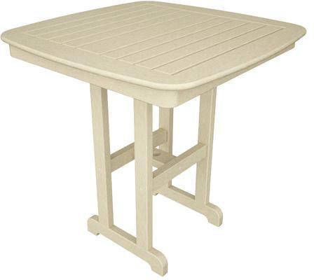 "Polywood NCRT37SA Nautical 37"" Counter Table Sand Finish - PolyFurnitureStore - 1"