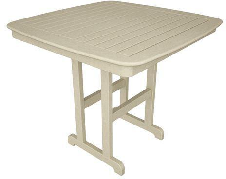 "Polywood NCRT44SA Nautical 44"" Counter Table Sand Finish - PolyFurnitureStore - 1"