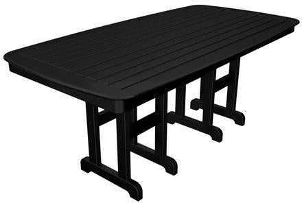 "Polywood NCT3772BL Nautical 37"" x 72"" Dining Table Black Finish - PolyFurnitureStore - 1"