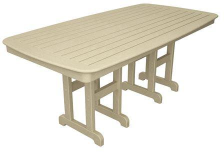 "Polywood NCT3772SA Nautical 37"" x 72"" Dining Table Sand Finish - PolyFurnitureStore - 1"