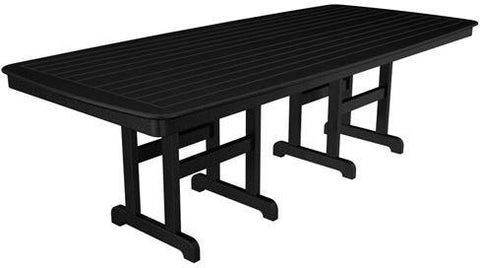 "Polywood NCT4496BL Nautical 44"" x 96"" Dining Table Black Finish - PolyFurnitureStore - 1"