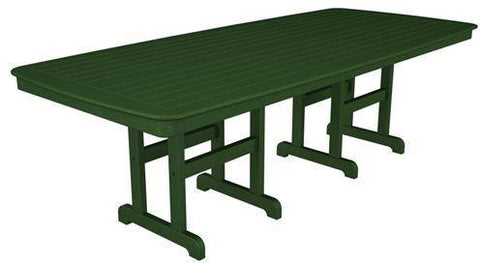 "Polywood NCT4496GR Nautical 44"" x 96"" Dining Table Green Finish - PolyFurnitureStore"