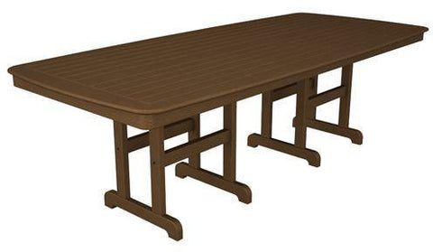"Polywood NCT4496TE Nautical 44"" x 96"" Dining Table Teak Finish - PolyFurnitureStore"