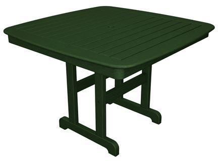 "Polywood NCT44GR Nautical 44"" Dining Table Green Finish - PolyFurnitureStore - 1"