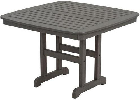 "Polywood NCT44GY Nautical 44"" Dining Table Slate Grey Finish - PolyFurnitureStore - 1"