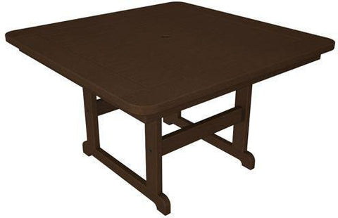 "Polywood PST48MA Park 48"" Square Table Mahogany Finish - PolyFurnitureStore - 1"