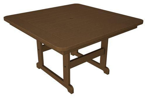 "Polywood PST48TE Park 48"" Square Table Teak Finish - PolyFurnitureStore - 1"