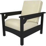 Polywood PWCLC23BL-5472 Club Chair Black / Bird's Eye Finish - PolyFurnitureStore - 4