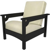 Polywood PWCLC23BL-5472 Club Chair Black / Bird's Eye Finish - PolyFurnitureStore - 1