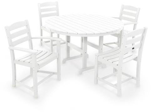 Polywood Casa CafEacute Dining Set White 2495