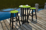 "Polywood RBT224FBLGR Contempo 24"" Round Bar Table Black Frame / Green Finish - PolyFurnitureStore - 2"