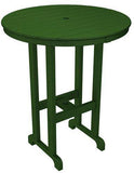 "Polywood RBT236GR Round 36"" Bar Table Green Finish - PolyFurnitureStore - 1"