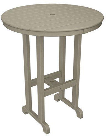 "Polywood RBT236SA Round 36"" Bar Table Sand Finish - PolyFurnitureStore - 1"