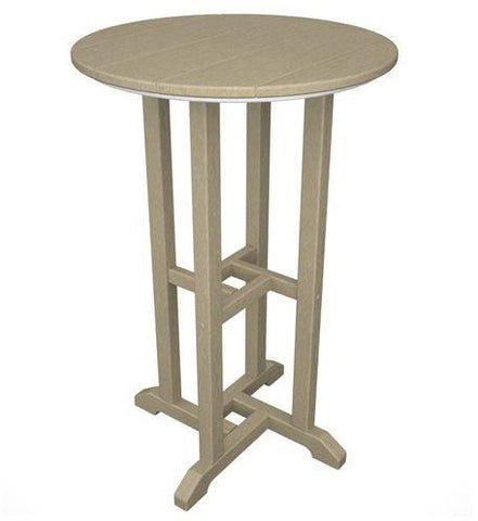 "Polywood RRT124SA Traditional 24"" Round Counter Table Sand Finish - PolyFurnitureStore - 1"