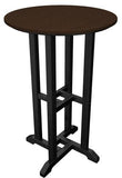 "Polywood RRT224FBLMA Contempo 24"" Round Counter Table Black Frame / Mahogany Finish - PolyFurnitureStore - 1"