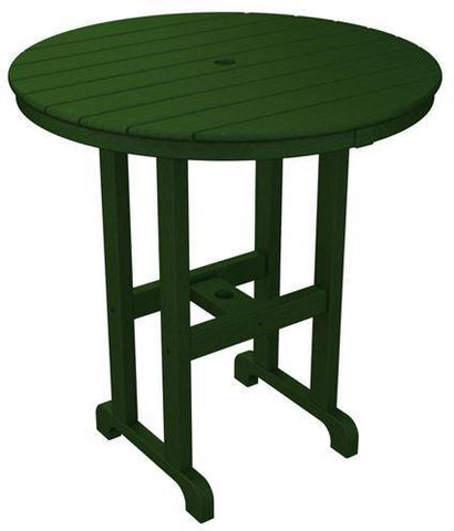 "Polywood RRT236GR Round 36"" Counter Table Green Finish - PolyFurnitureStore - 1"
