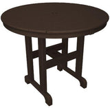 "Polywood RT236MA Round 36"" Dining Table Mahogany Finish - PolyFurnitureStore - 1"
