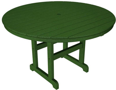 "Polywood RT248GR Round 48"" Dining Table Green Finish - PolyFurnitureStore - 1"