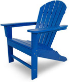 Polywood SBA15PB South Beach Adirondack Pacific Blue Finish - PolyFurnitureStore - 1