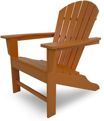 Polywood SBA15TA South Beach Adirondack Tangerine Finish - PolyFurnitureStore - 1