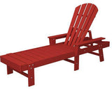 Polywood SBC76SR South Beach Chaise Sunset Red Finish - PolyFurnitureStore - 1