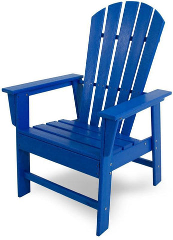 Polywood SBD16PB South Beach Dining Chair Pacific Blue Finish - PolyFurnitureStore - 1