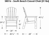 Polywood SBD16TA South Beach Dining Chair Tangerine Finish - PolyFurnitureStore - 7