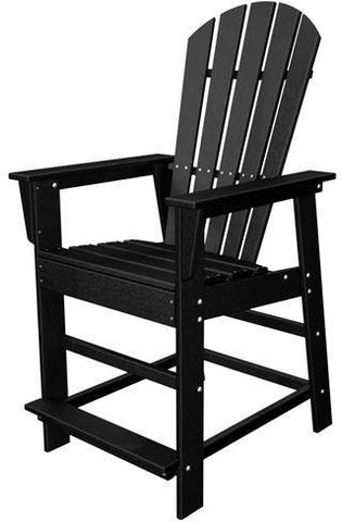 Polywood SBD24BL South Beach Counter Chair Black Finish - PolyFurnitureStore - 1