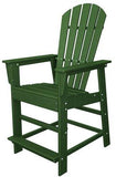 Polywood SBD24GR South Beach Counter Chair Green Finish - PolyFurnitureStore - 1
