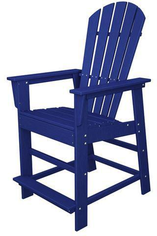 Polywood SBD24PB South Beach Counter Chair Pacific Blue Finish - PolyFurnitureStore - 1