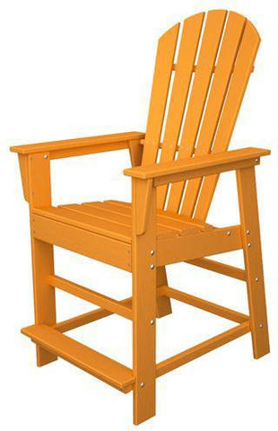 Polywood SBD24TA South Beach Counter Chair Tangerine Finish - PolyFurnitureStore - 1