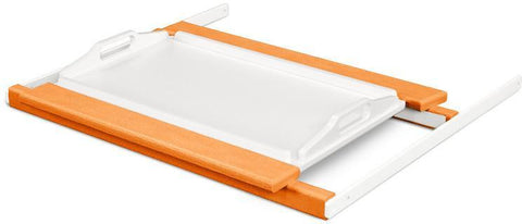 Polywood TT22TAMWH Shell Tray Table Tangerine / White Finish - PolyFurnitureStore
