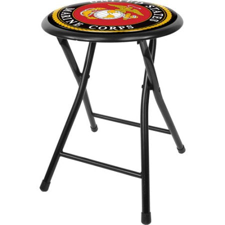 Usmc1800-B United States Marine Corps 18 Inch Folding Stool - Black