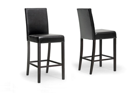 Wholesale Interiors IDD01-BS-Dark Brown (4PC/CTN) Torino Dark Brown Modern Bar Stool - Set of 4