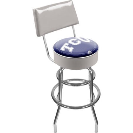 Texas Christian University Clc1100-Tcu Texas Christian University Padded Swivel Bar Stool With Back