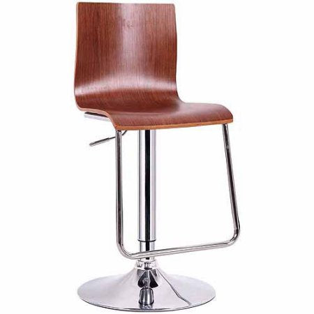 Wholesale Interiors SD-2121-walnut-PSTL Lynch Walnut Modern Bar Stool - Set of 2