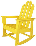 Polywood ECR16LE Long Island Rocker Lemon Finish - PolyFurnitureStore - 1