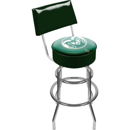 Colorado State University Clc1100-Cost Colorado State University Padded Swivel Bar Stool With Back