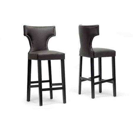 Wholesale Interiors DO6091-brown-BS  Hafley Brown Modern Bar Stool - Set of 2