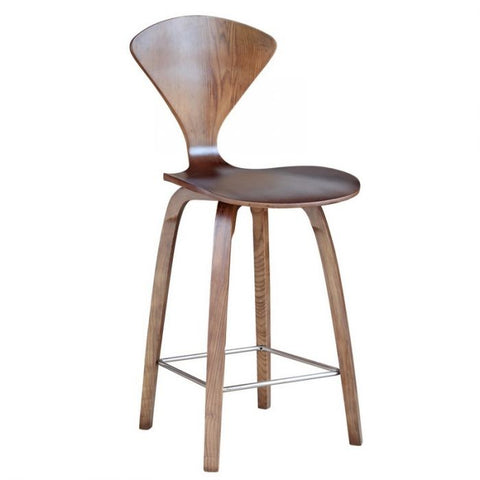 "Fine Mod Imports FMI9254-walnut Wooden Counter Chair 25"", Walnut"