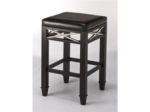 Hillsdale Furniture 5172-826 La Vista Non-Swivel Backless Counter Stool with X Design - HillsdaleSuperStore