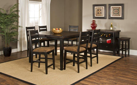 Hillsdale Furniture 5381CTBSL7 Killarney 7-Piece Counter Height Dining with Ladder Back Stools - HillsdaleSuperStore
