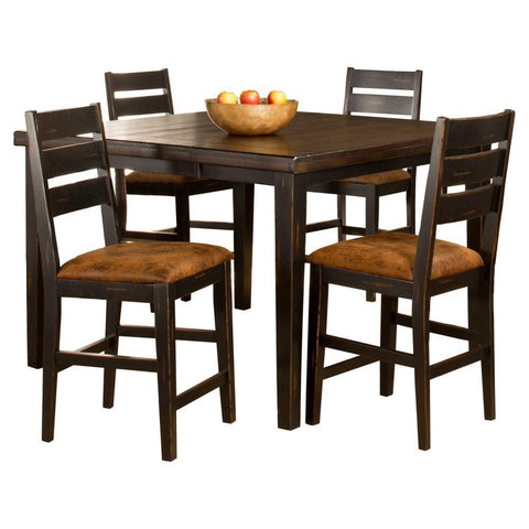 Hillsdale Furniture 5381CTBSL5 Killarney 5-Piece Counter Height Dining with Ladder Back Stools - HillsdaleSuperStore