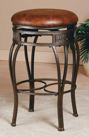 "Hillsdale Backless 26"" Montello Swivel Counter Stool 4361-827 - HillsdaleSuperStore"